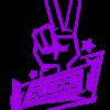SLC280-Sticker-Peace-klein-lila