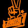 SLC280-Sticker-Peace-klein-orange